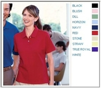 Harriton Cotton Pique Ladies Short-Sleeve Polo
