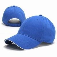 Cotton cap with a sandwich visor, Custom Blank Caps
