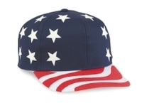 Cobra-Budget Caps 6-Panel USA Flag