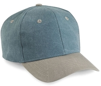 Cobra-6-Panel Two Tone Stone Washed Canvas Cap, two tone
