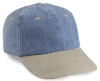Cobra-6-Panel Washed Denim Sand Visor