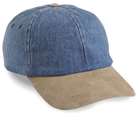 Cobra-6-Panel Washed Denim Suede Visor