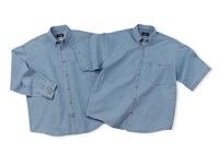 Image 6.5 oz. Washed Denim Short Sleeve Shirt