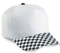 Cobra-5-Panel Racing Checkered Visor