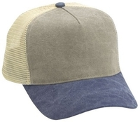 Budget Caps | Cobra-5 Panel Washed Canvas Mesh Back
