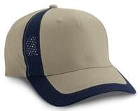 Budget Caps | Cobra-5 Panel Brushed Cotton Jersey Mesh Trim