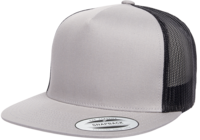 Yupoong Flat Billed Two Tone Trucker Cap