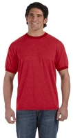 Authentic Pigment Direct-Dyed Mens Heather Ringer Tee