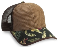 Cobra-6 Panel Straw Baseball Mesh Back