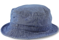 Cobra-Stone Washed Denim Bucket Hat