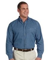 Harriton Mens Long-Sleeve Denim Shirt