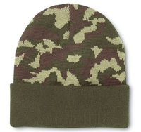 Cobra -Knit Military Green Camo Beanie