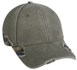 Outdoor-Cap Frayed Cap with Camo