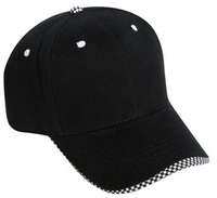Cobra-6 Panel Brushed w/Checker Wave Bill