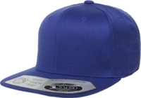 Yupoong-Flexfit -Wool Blend Snap Back Flat Bill Stretches with adjustable snap
