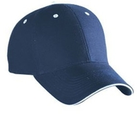 Image Blank Caps   Otto-Brushed Cotton Canvas Sandwich Visor Low Profile