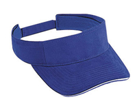 Otto-Brushed Cotton Twill Sandwich Visor Sun Visors