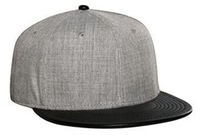 Otto-Wool Blend Flat Leather Visor Pro Style Snapback