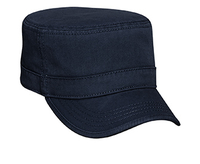 Otto-Garment Washed Cotton Twill with Binding Trim Visor Military Style