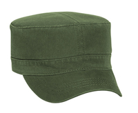 Otto-Garment Washed Cotton Twill Military Style Cap