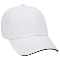 Image Otto-Garment Washed Cotton Twill Sandwich Visor Low Profile