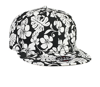 Otto-Superior Cotton Twill Hawaiian Pattern Flat Visor Pro Style