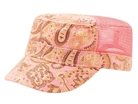 Mega Ladies' Paisley Print Canvas Mesh Army Cap