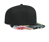Otto-Superior Cotton Twill with Hawaiian Pattern Flat Visor Pro Style Snapback