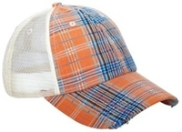 Mega-Low Profile Plaid Mesh Cap