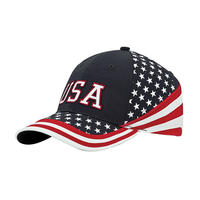 Image Mega-6 Panel Cotton Twill USA Flag Cap
