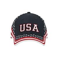 Mega-6 Panel Cotton Twill USA Flag Cap