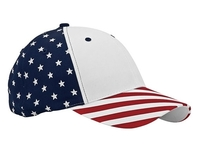 Mega-6 Panel Cotton Twill USA Flag