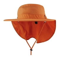 Mega-Juniper Taslon UV Large Bill Hat w/ Roll-Up Flap