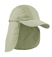 Mega-Juniper Taslon UV Cap with Detachable Flap