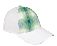 Mega Flex Low Profile Plaid Cotton Fitted Cap