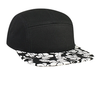 Otto-Square Flat Visor Hawaiian Pattern Camper Style