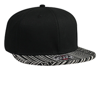 Otto-Superior Cotton Twill Aztec Pattern Cotton Jacquard Flat Visor