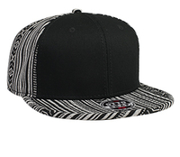 Otto-Aztec Pattern Cotton Jacquard with Binding Trim Pro Style Snapback