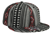 Otto-Aztec Pattern Polyester Jacquard with Binding Trim Pro Style Snapback