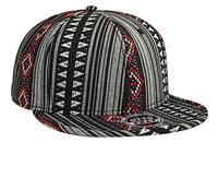 Otto-Aztec Pattern Polyester Jacquard with Binding Trim Pro Style Snapback