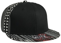 Otto-Aztec Pattern Cotton Jacquard Flat Visor with Binding Trim Pro Style