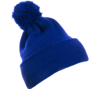 Image Yupoong-Pom Pom Beanie Cuffed Knit Hat