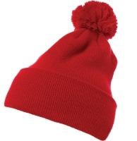 Yupoong-Pom Pom Beanie Cuffed Knit Hat