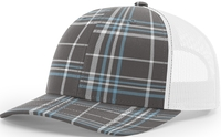 Richardson Trucker Plaid Pattern Twill Trucker  Mesh copy