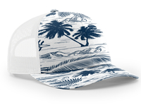 Richardson Trucker Island Pattern Twill Trucker  Mesh