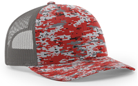 Image Richardson Trucker Camo Pattern Twill Mesh