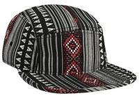 Otto-5-Panel Aztec Pattern Polyester Jacquard Flat Billed Cap