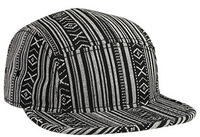 Otto-Aztec Pattern Cotton Jacquard Square Flat Visor with Binding Trim