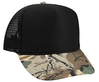 Image Otto-Polyester Foam Front Camoflage Visor High Crown Mesh Back