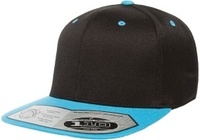Yupoong-Flexfit -Two Tone Wool Blend Snap Back Flat Bill Stretches
